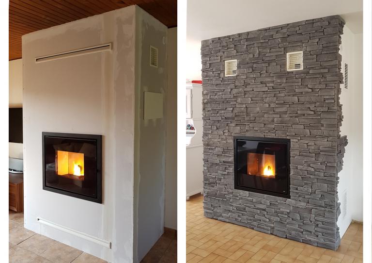 Divers foyers granulé MCZ Vivo en remplacement de l'existant