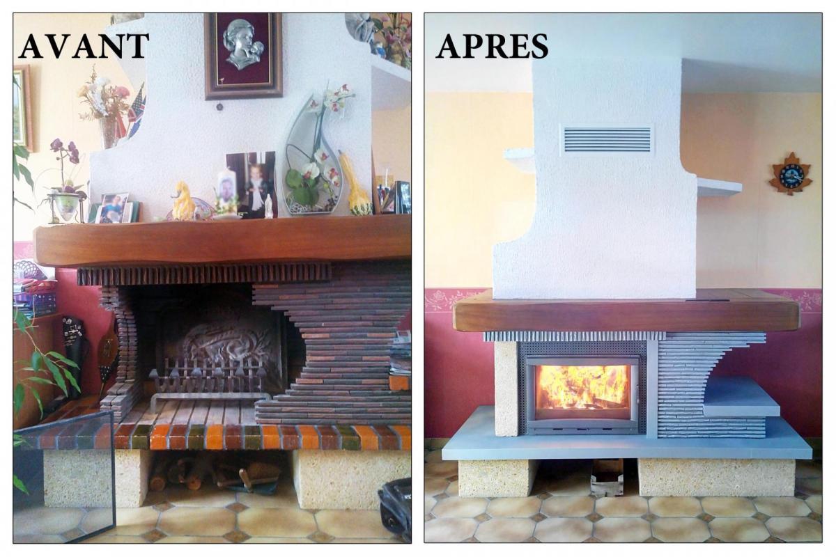 poele a bois foyer ouvert ou ferme. Black Bedroom Furniture Sets. Home Design Ideas