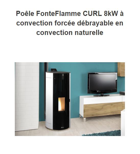 po le granul fonteflamme air et canalisable. Black Bedroom Furniture Sets. Home Design Ideas