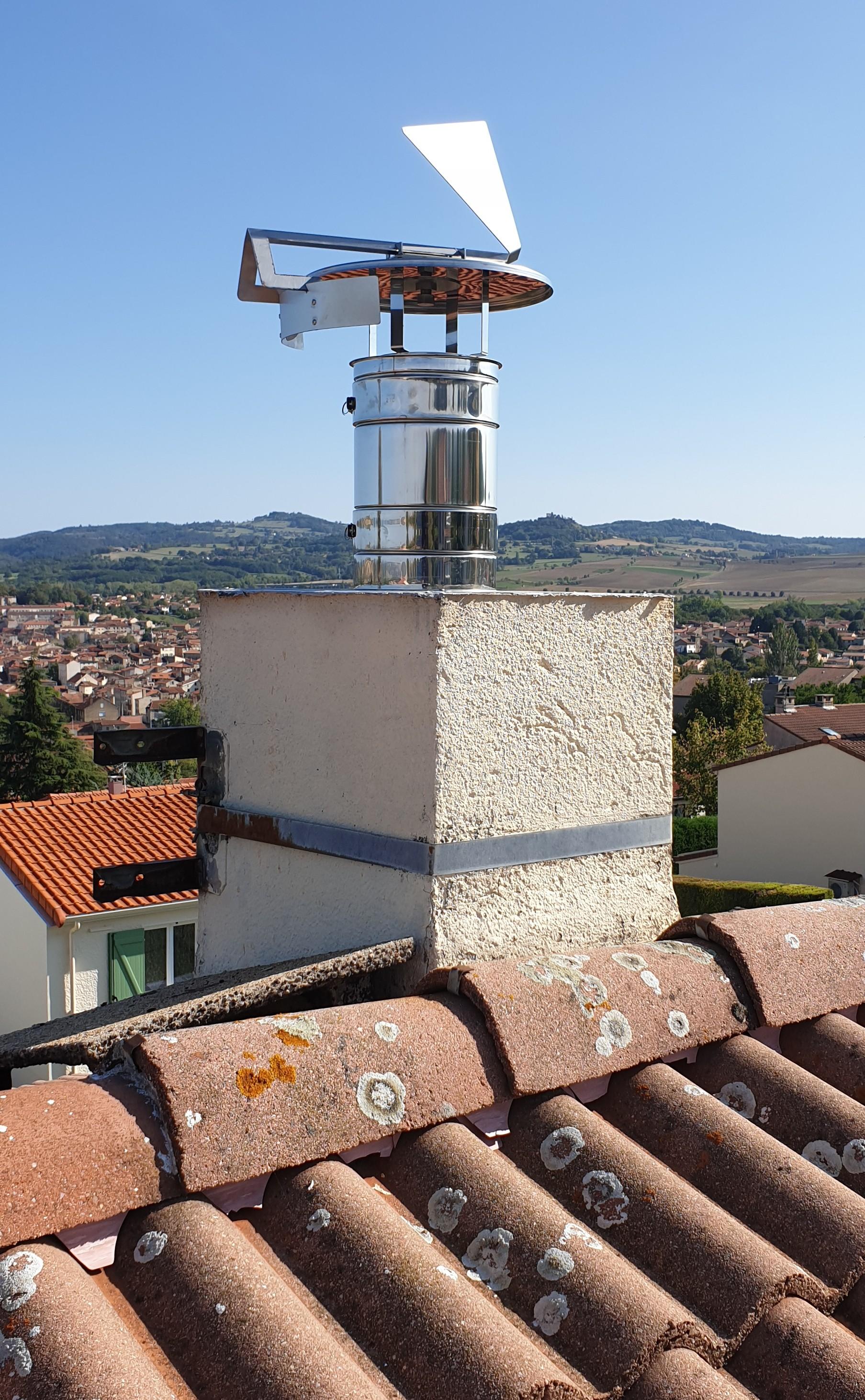 Chapeau de cheminée GIROSTOP contre les intempéries