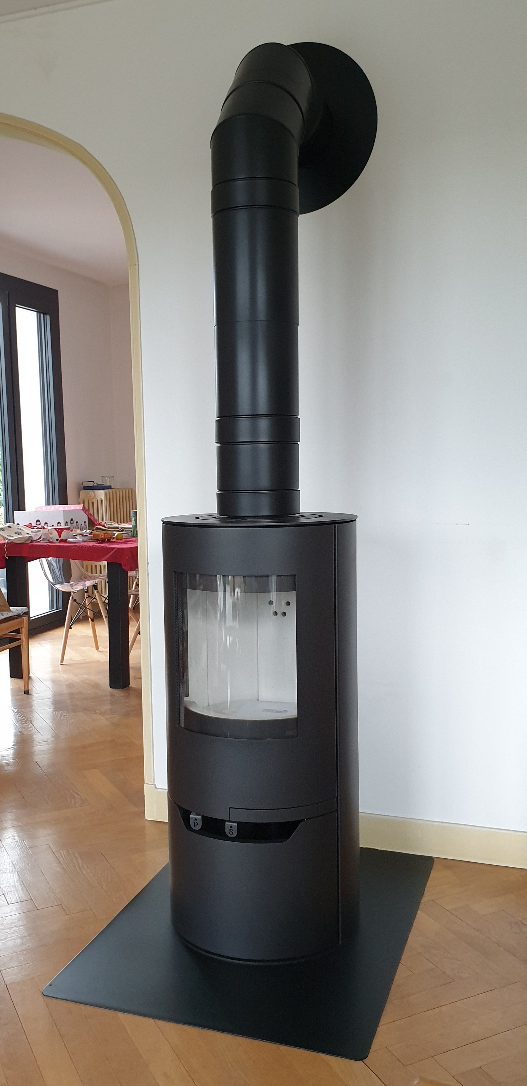 Interstoves ISF 6kW, conduit isolé MODINOX PTR30 150mm