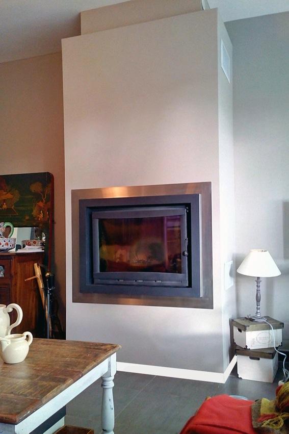 cadre inox et metal peint