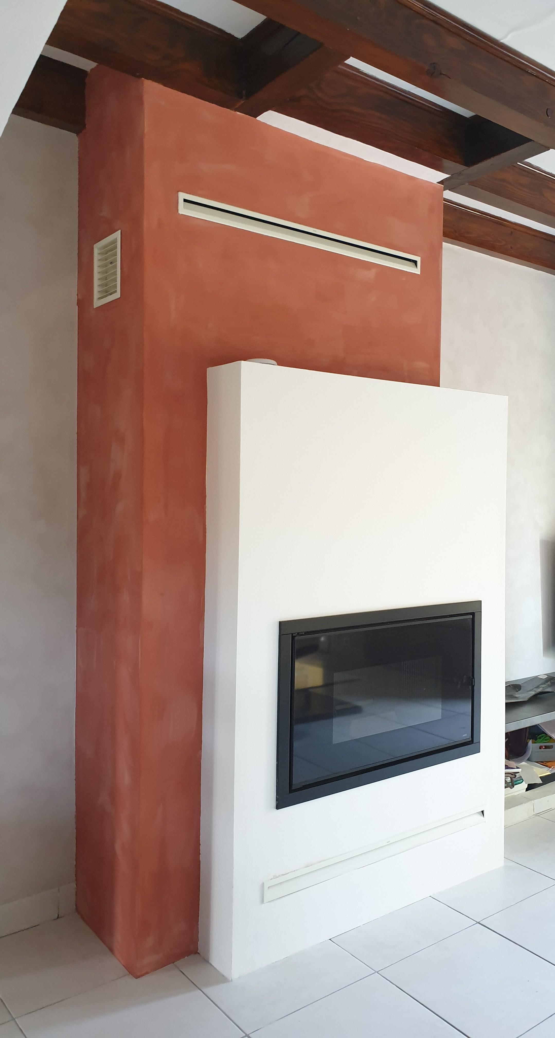 MCZ VIVO 90 / télécommande thermostatique, avec décalage de hotte